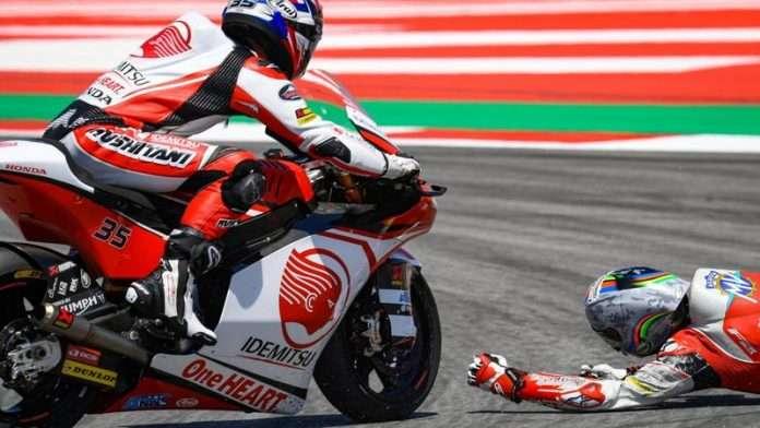 Moto2 MotoGP Lorenzo Honda Crash