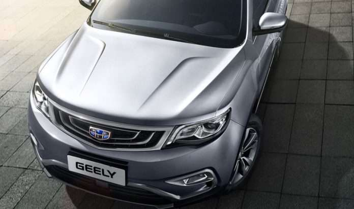 Geely chiavi contactless