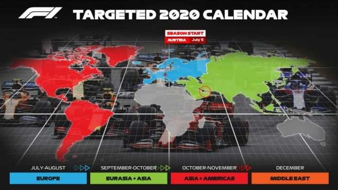 Chase Carey calendario 2020
