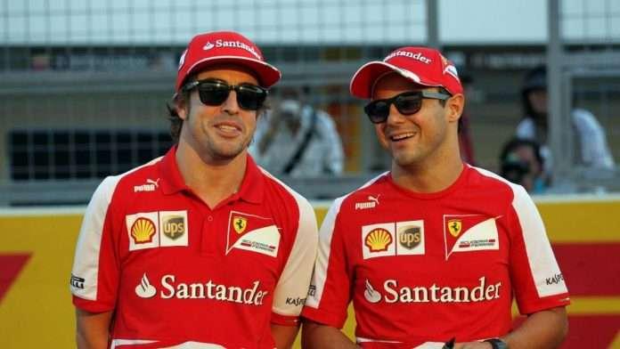 Felipe Massa ed Alonso in Ferrari