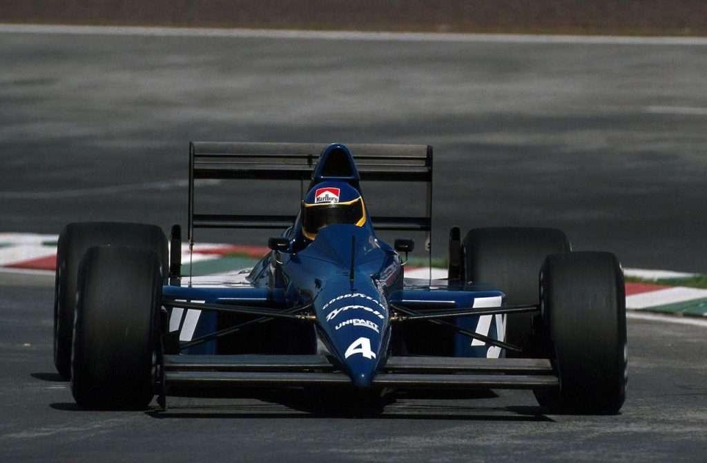 Michele Alboreto su Tyrrell 018 - Ford