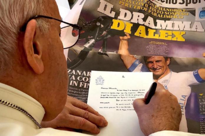 Zanardi lettera Papa Francesco