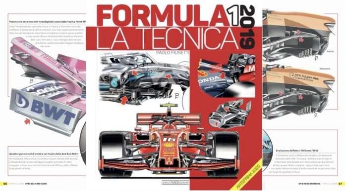 """La copertina dell'opera prima di Paolo Filisetti: """"FORMULA 1 2019 LA TECNICA"""""""