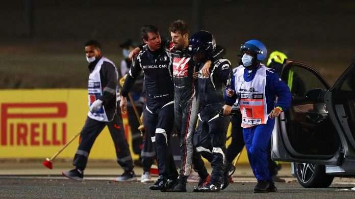 GP Bahrain incidente Grosjean