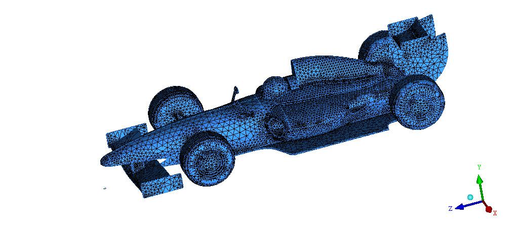 Mesh di una monoposto di F1 (FetchCFD)