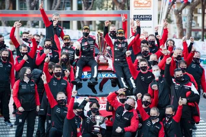 Sebastien Ogier, su Toyota, conquista il Rally di Montecarlo