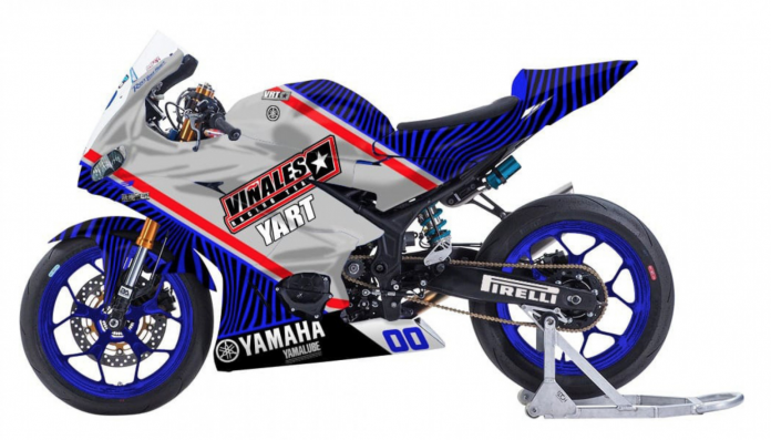 La moto del Vinales Racing Team
