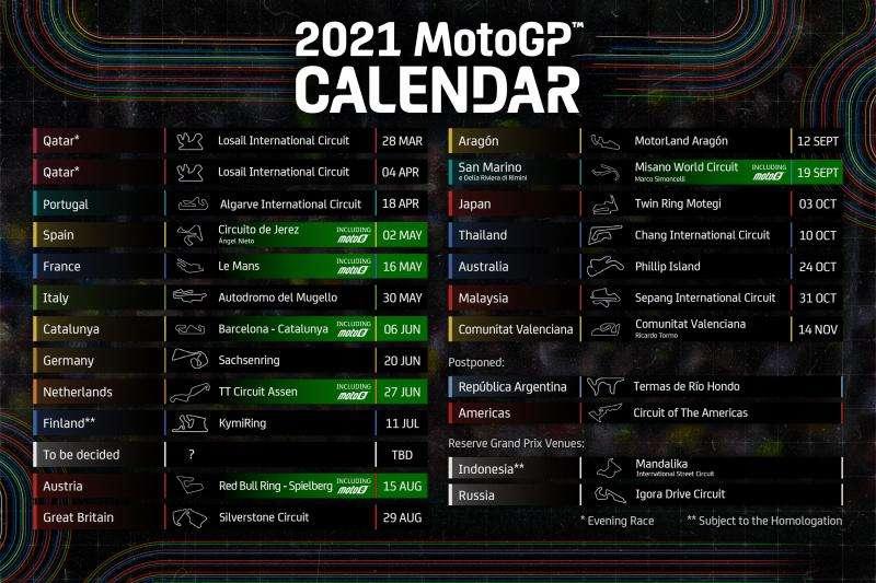 MotoGP | America e Argentina posticipate, doppia gara a Losail e Portimao il 18 aprile