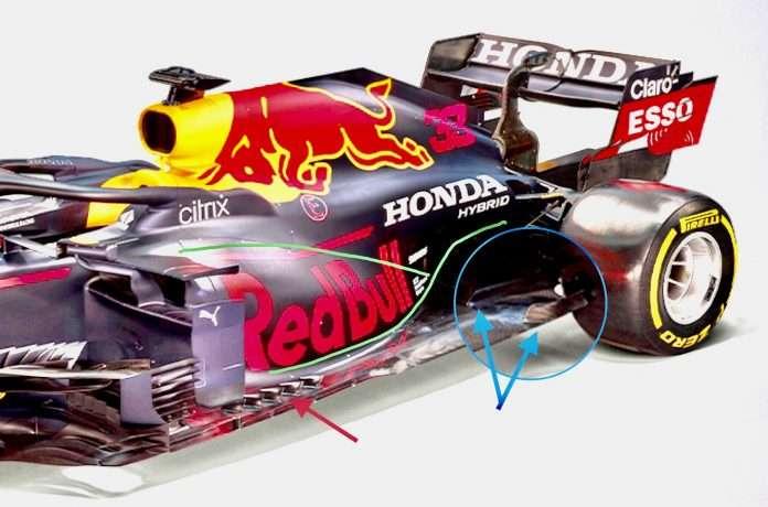 Poche novità e tutte concentrate sul posteriore per la Red Bull RB16B