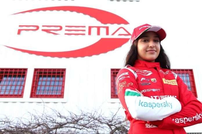 Hamda Al Qubaisi nell'Italian F4 Championship con Prema