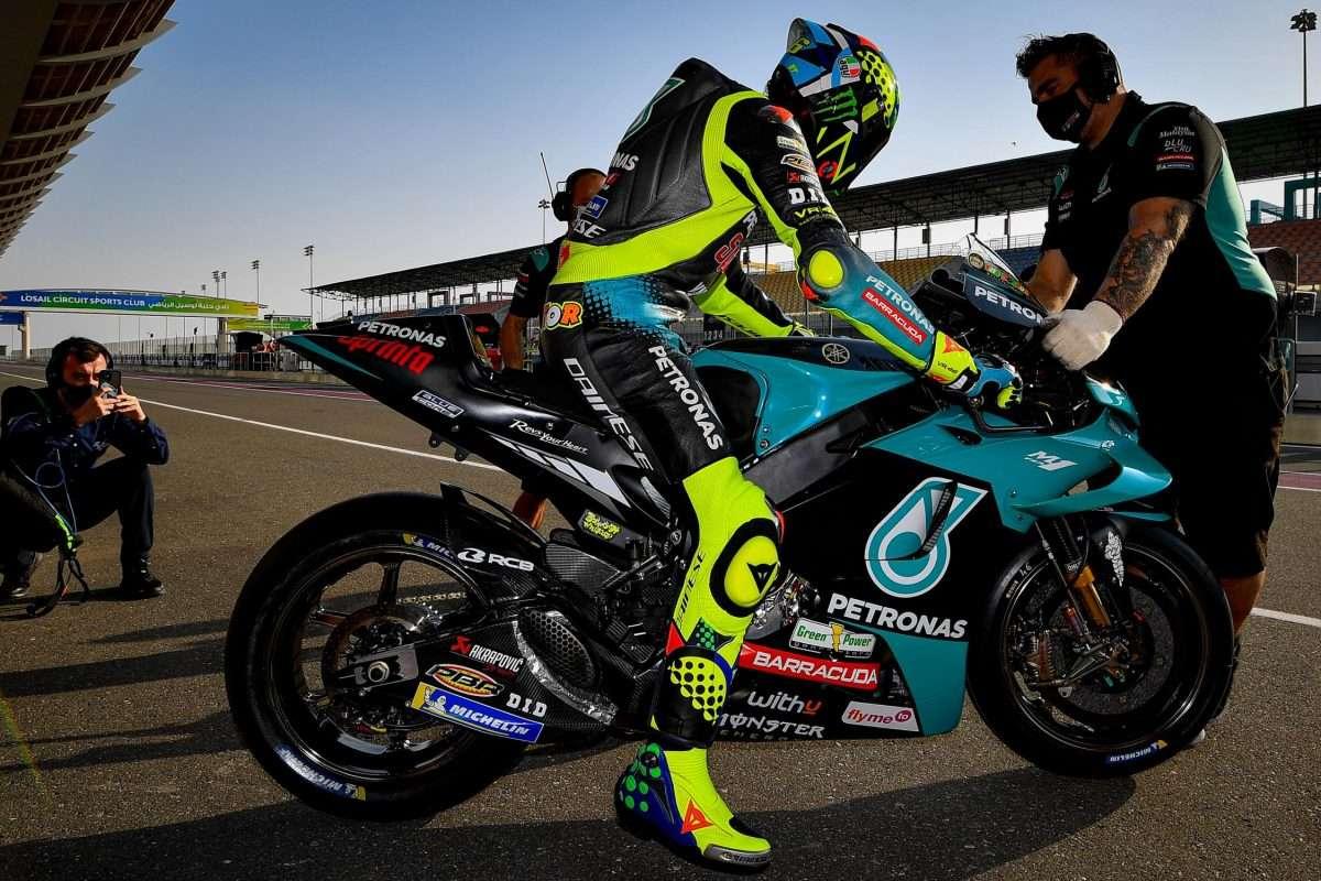 MotoGP | 2021 Qatar Test Day 1: Valentino Rossi e la M1 Petronas