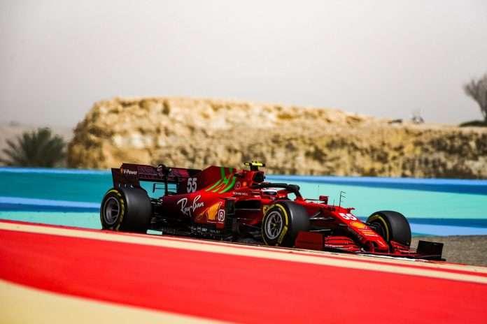 Carlos Sainz sulla Ferrari