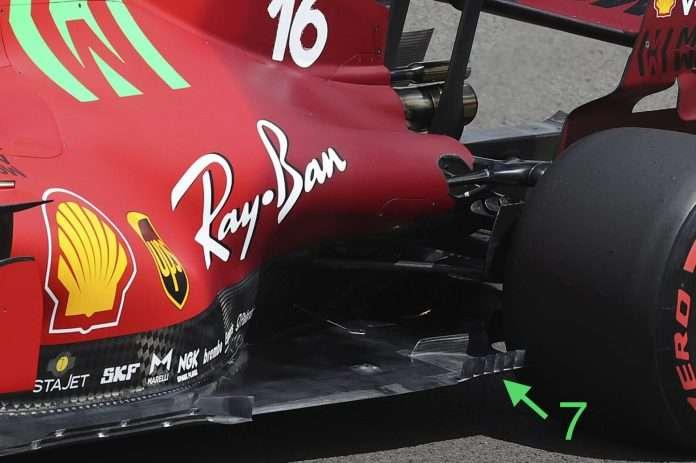 Ferrari continua a portare piccole migliorie sulla SF21