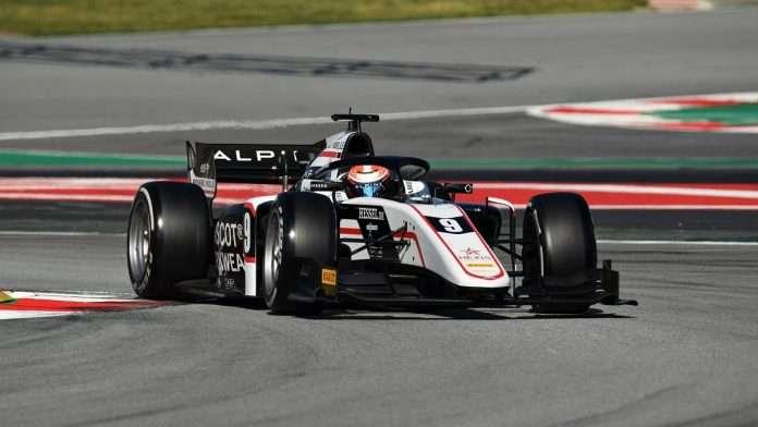 FIA F2 test Barcellona Lundgaard