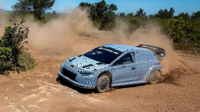 Prime immagini per la Hyundai i20 N in specifica Rally1