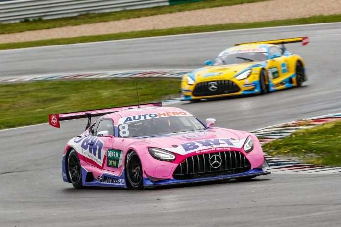 La Mercedes in pista nei test DTM a Lausitzring