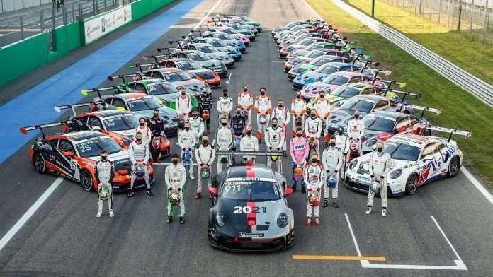 Lo schieramento della Porsche Supercup