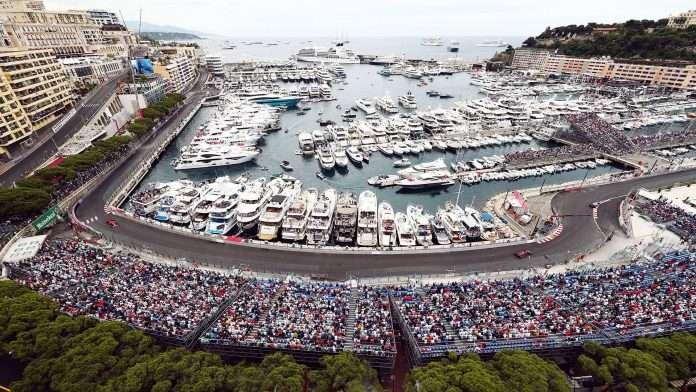 La pista nella zona del Porto di Monaco