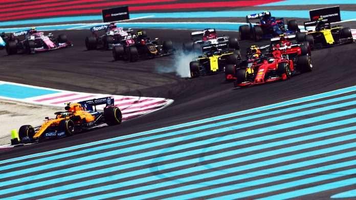 La partenza dell'ultimo GP di Francia disputato