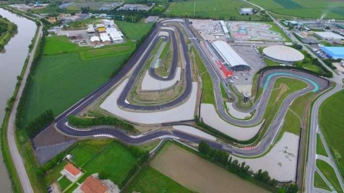 Il nuovo layout della pista di Adria