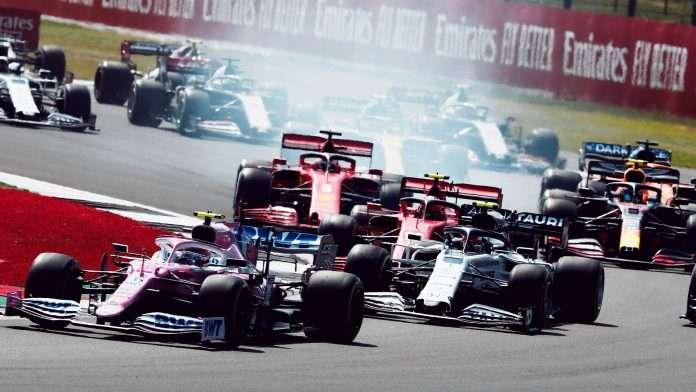 La partenza del GP di Gran Bretagna 2020