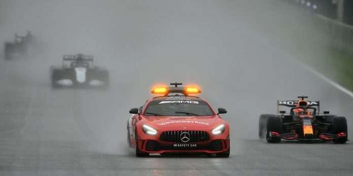 I due giri dietro la Safety durante il GP del Belgio
