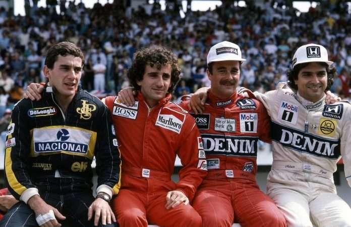Budapest, Gran Premio d'Ungheria 1986: la celebre foto con i contendenti al titolo