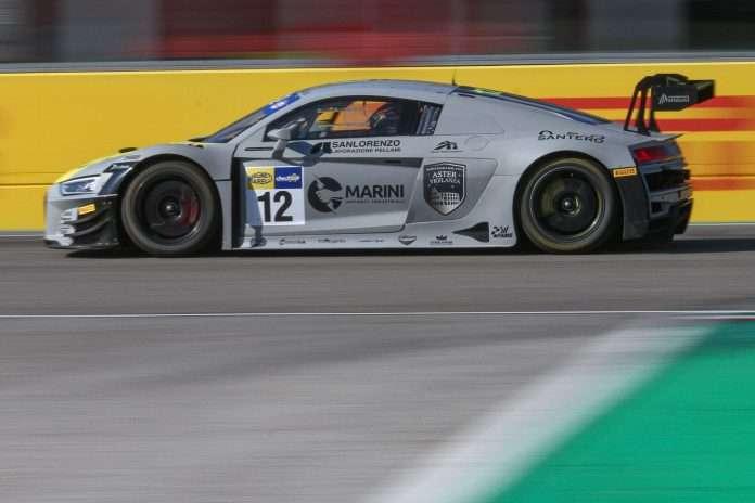 La Audi R8 vincitrice di gara-1 a Imola