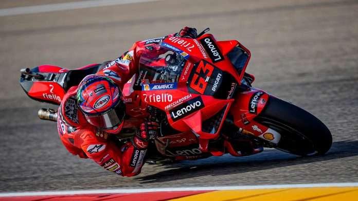 Francesco Bagnaia vincitore ad Aragon, prima vittoria motogp