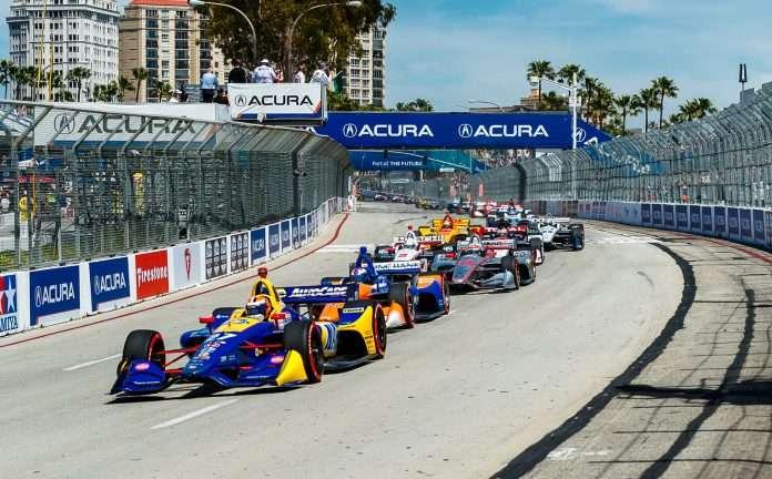 La partenza dell'ultima edizione del Grand Prix of Long Beach. Fonte: Long Beach GP Official Website