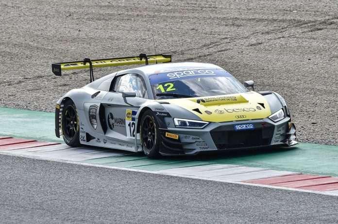 L'Audi R8 di Agostini/Ferrari, campioni italiani. Foto: fb Audi Sport Italia
